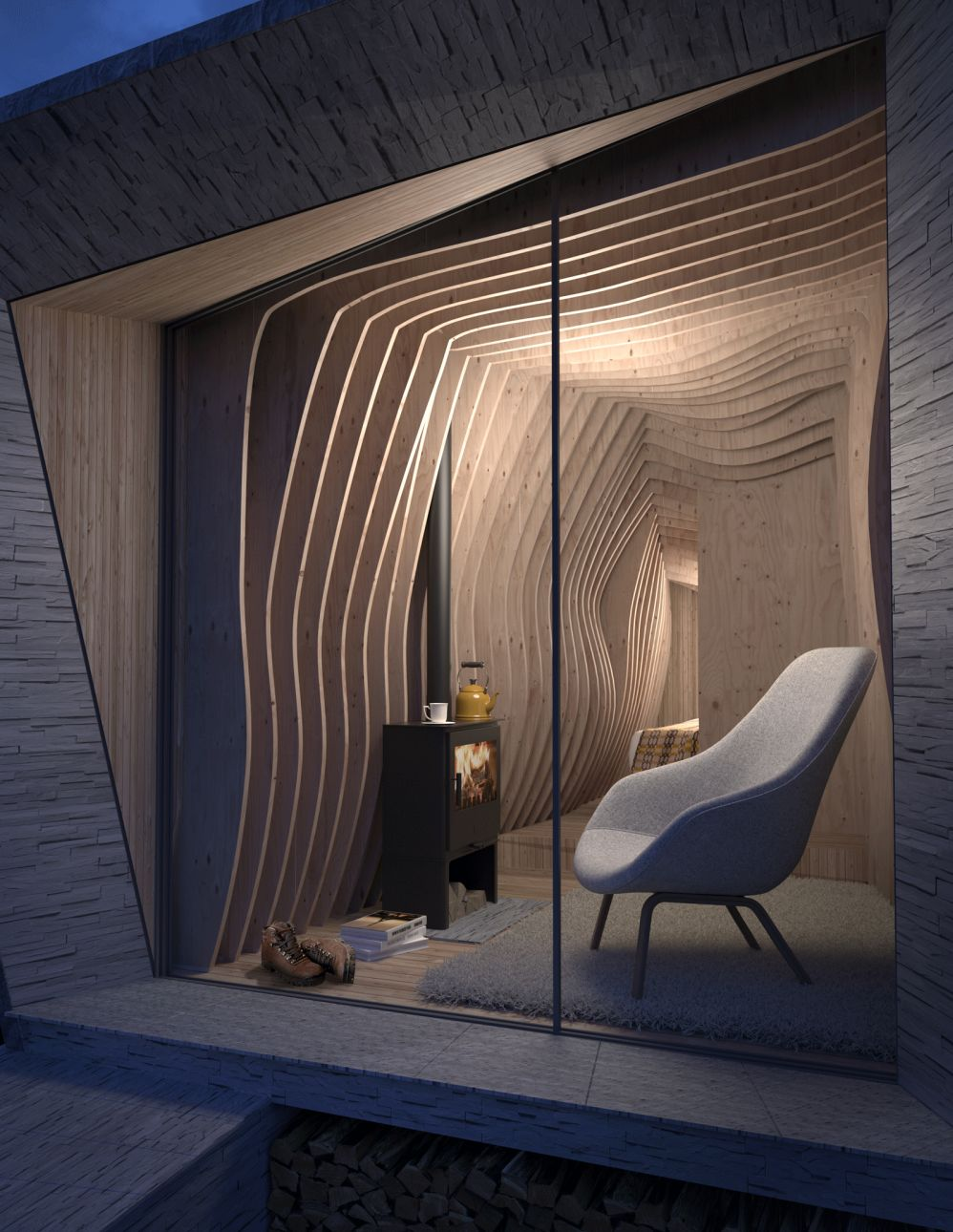 Arthur Cave by Miller Kendrick Architects