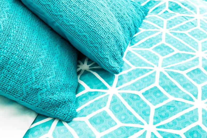 Knitted cushions and pillows