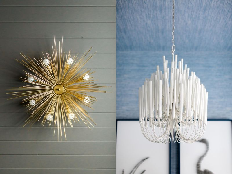 Attractive chandeliers including the starburst chandelier with steel frame