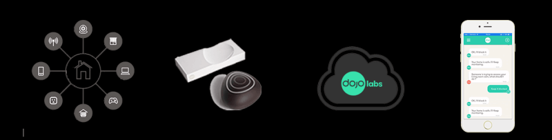 Pebble-shaped smart home security system