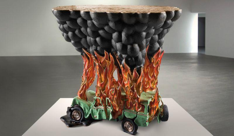 Car crash coffee table by Studio Job