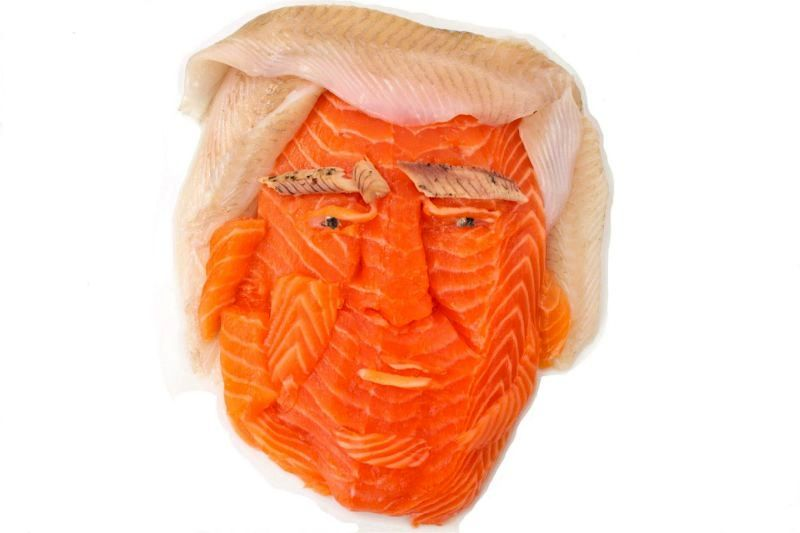 Donald Trump food art by Lauren Garfunkel