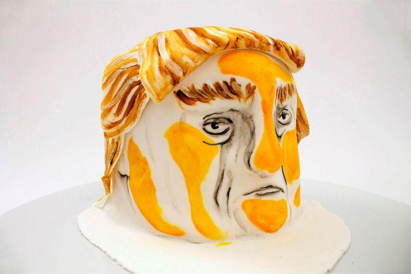 Donald Trump food art by Lauren Garfunkel