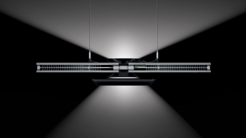 Dyson Cu-Beam Duo reflecting light on both sides