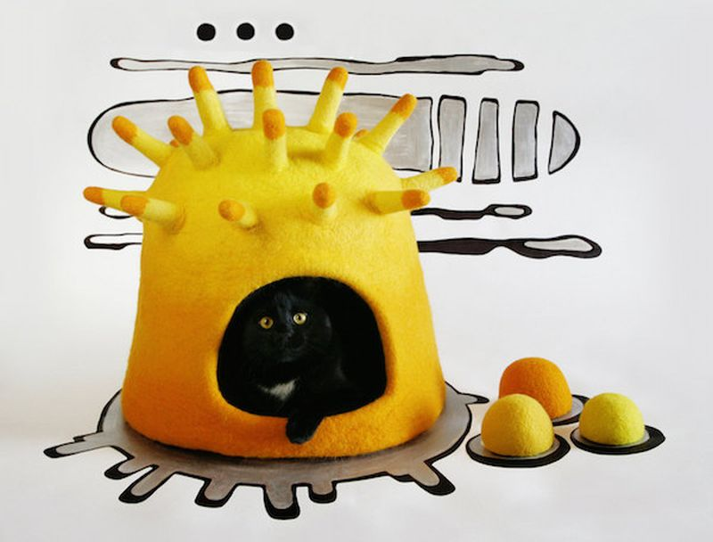handmade-felt-cat-caves