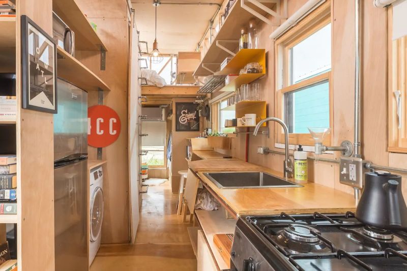 Kinetohaus tiny house on wheels in Del Valle, Texas