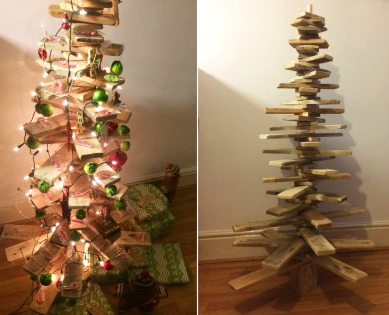 Scandinavian pallet Christmas tree