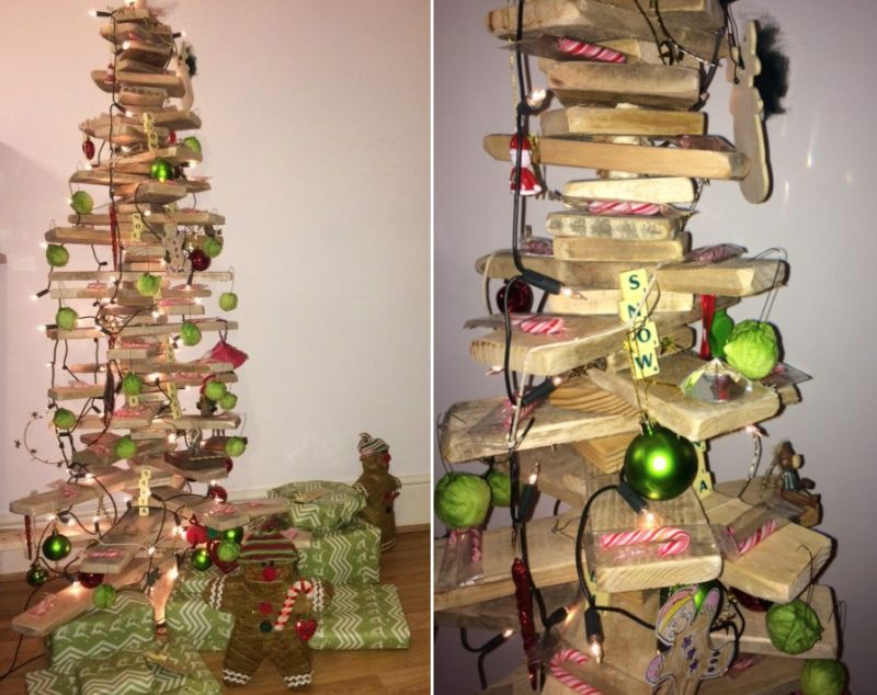 Scandinavian pallet Christmas tree