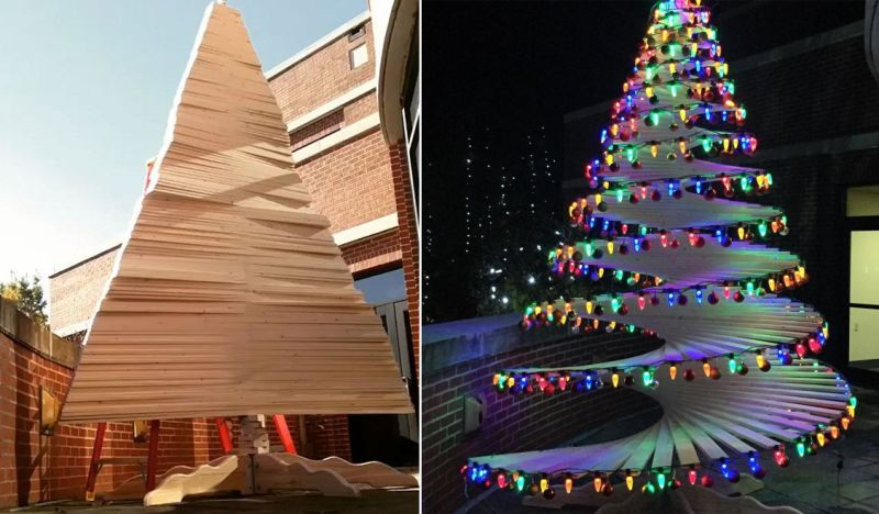 Restore Hope initiative - DIY spiral Christmas tree by Joey Myers