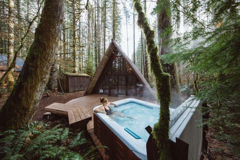 Sky Haus A-frame cabin in Skykomish, Washington