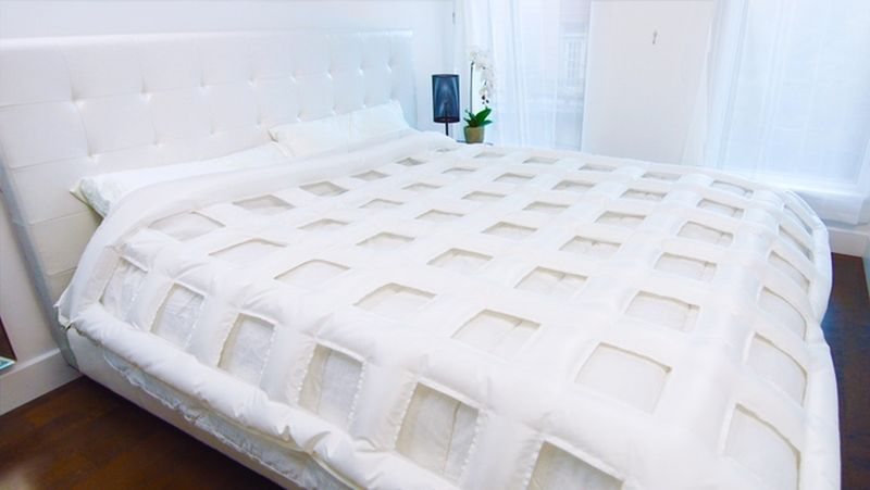 Grid-shaped bedding