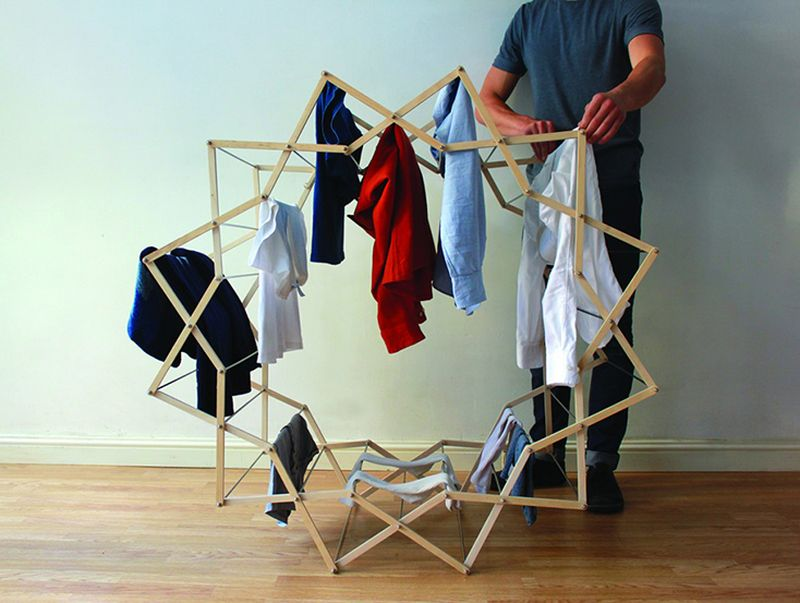 star-shaped-clothes-drying-rack