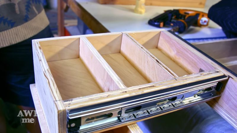 Custom-made pull drawers for each player and DM