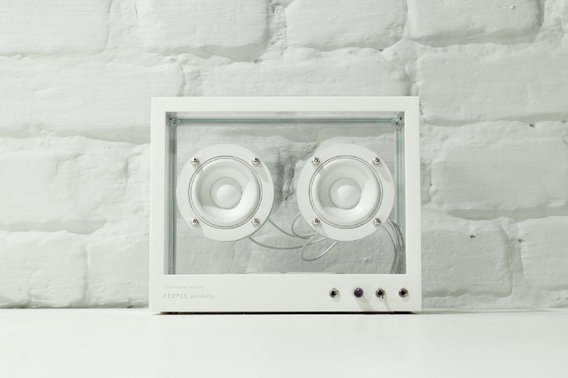 Hardened glass body is secured to the white coated aluminum unibody frame