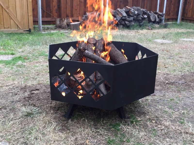 Place in your backyard and enjoy outdoor fire