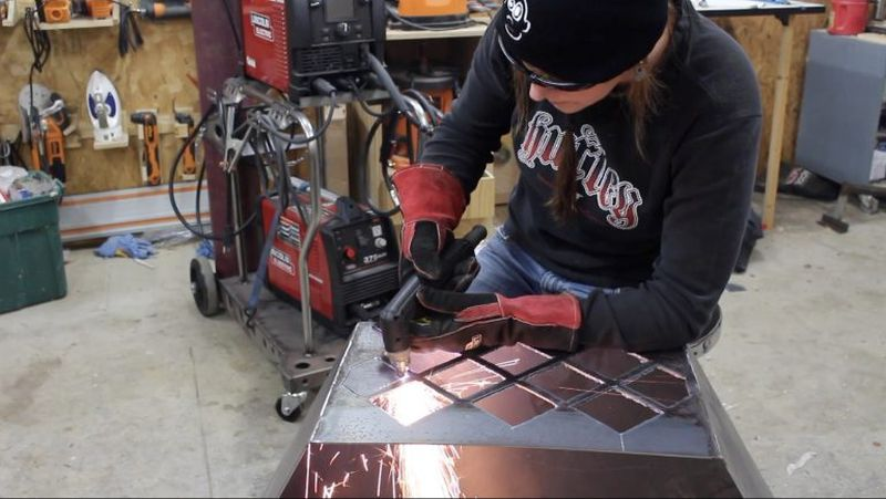 Cutting patterns on metal boards