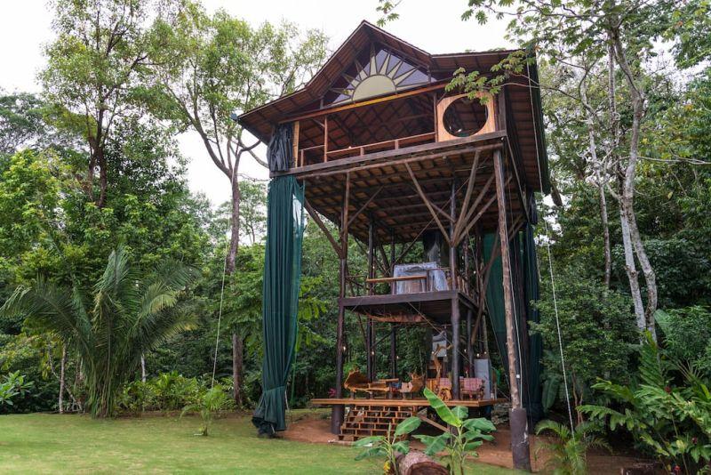 Three story treehouse in Matapalo, Costa Rica