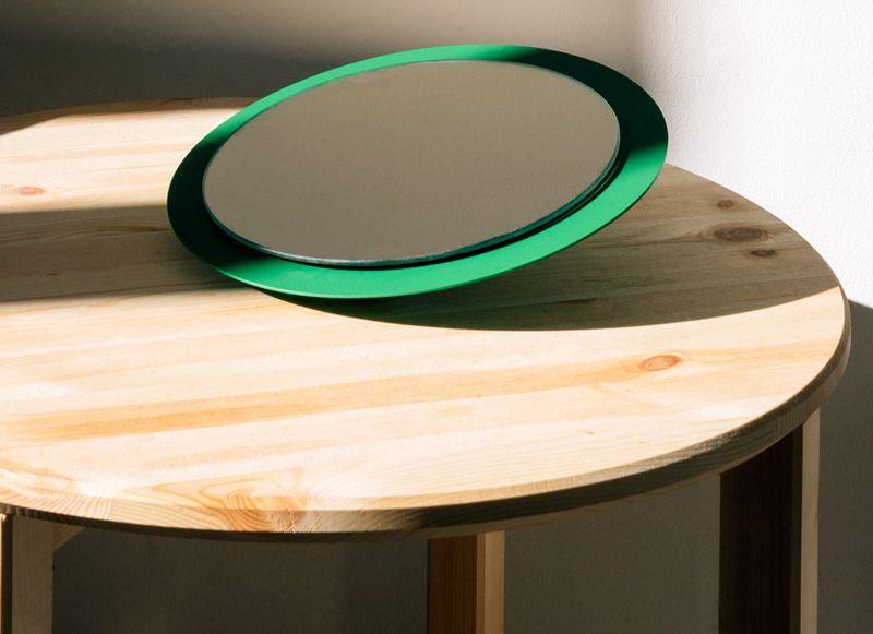 Toro rotating wall mirror by Gravina