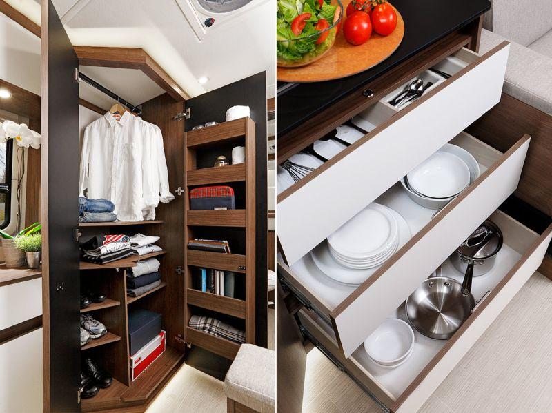 Elegant wooden cabinetry