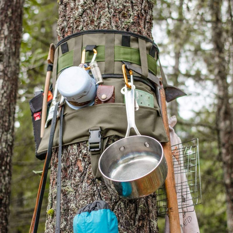 Hang your cookware, water bottles and other tools