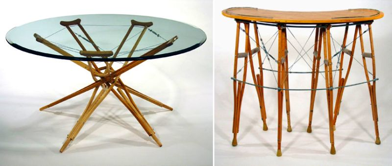 Upcycled furniture by Rodney Allen Trice