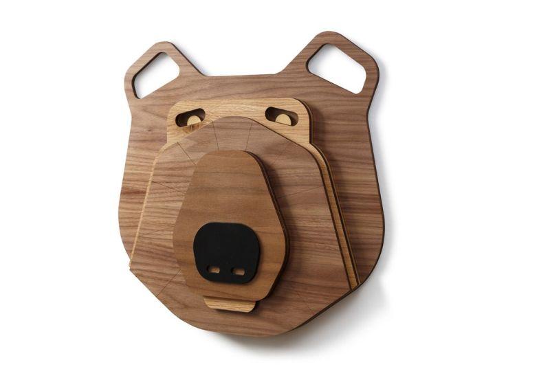 Funny bear wall mask