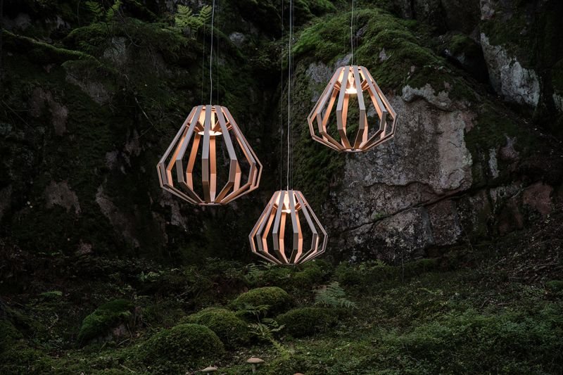 Conical Apollo wood light collection