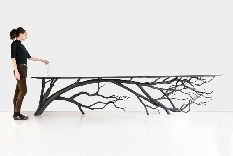 Bilbao Console is Sebastian Errazuriz's latest tree branch table