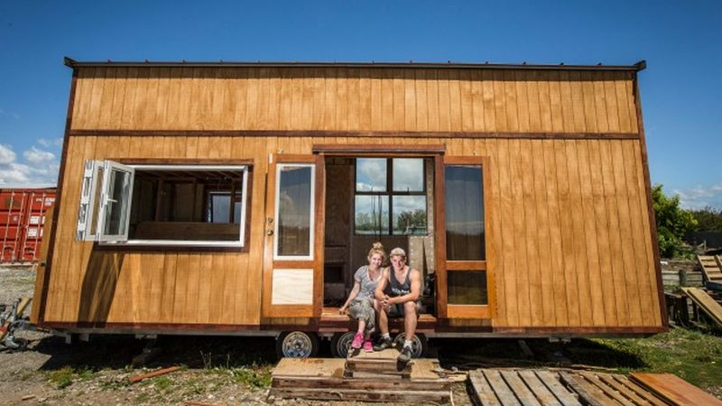 Canterbury University couple tiny house