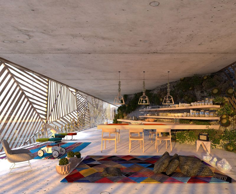 Mugu House is eco-friendly structure with undulating façade of wooden strips