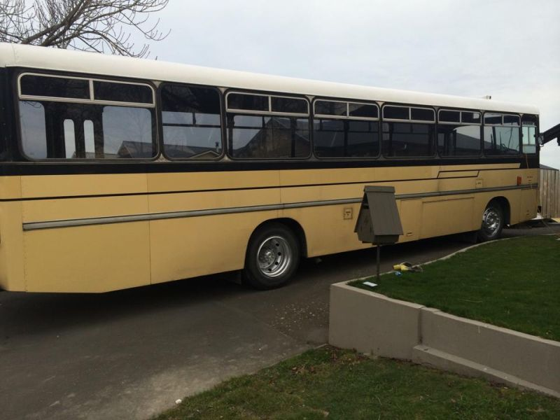 Renovated bus home by Andrew and Amber- Mobile Homes