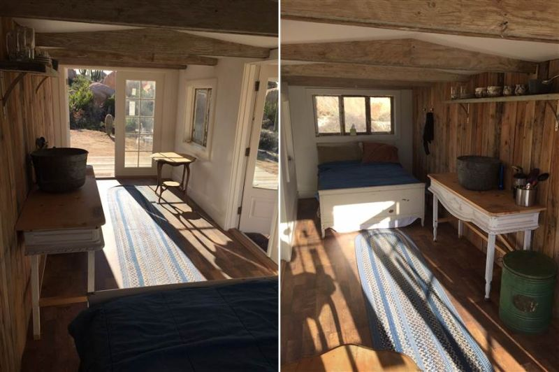 US couple builds tiny home out of old dumpster