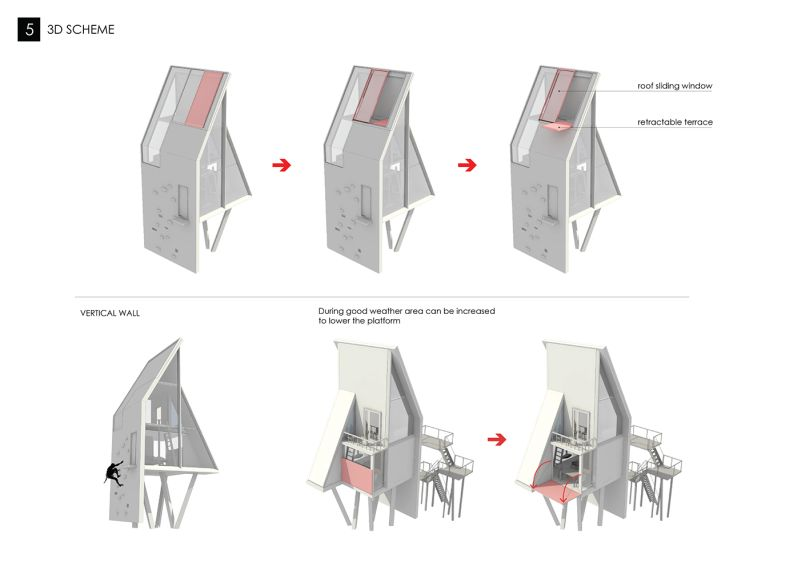 Treehouse with climb wall