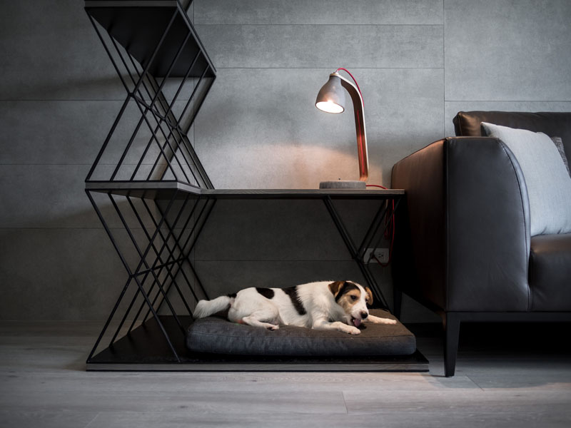 triple-duty dog bed by LCGA Design