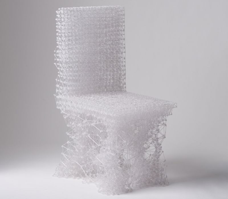 Connect chair by Jungsub Shim is drawn with 3D-printing pen