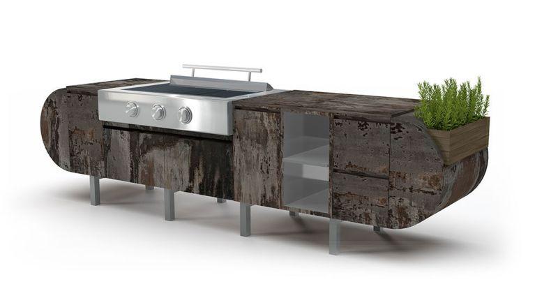Outdoor kitchen by Brown Jordan Outdoor Kitchens