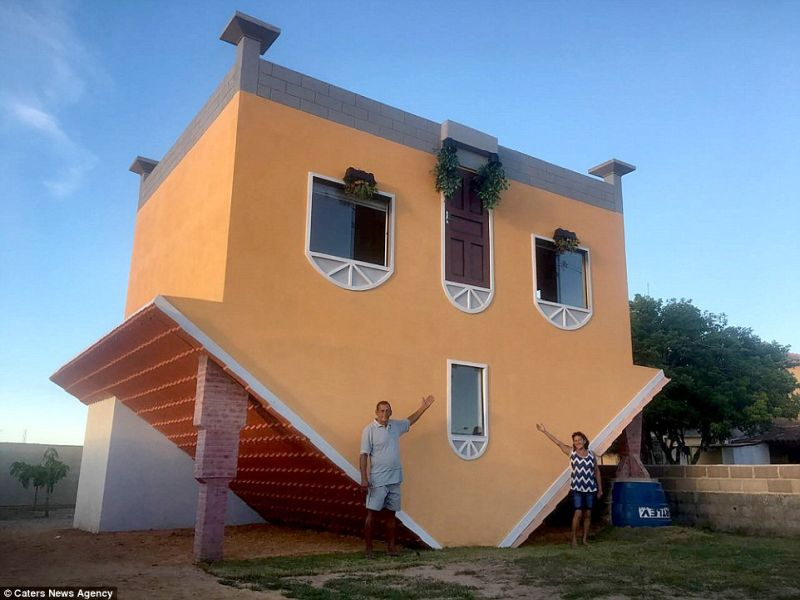 Upside down house by Valdevino Miguel da Silva
