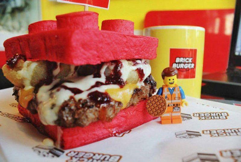 lego brick burger
