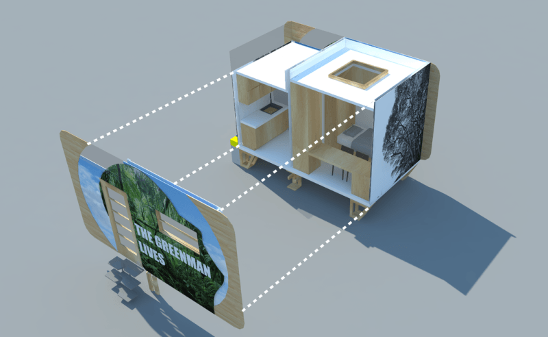 Greenman off-grid tiny home is an affordable housing option with no utility bills