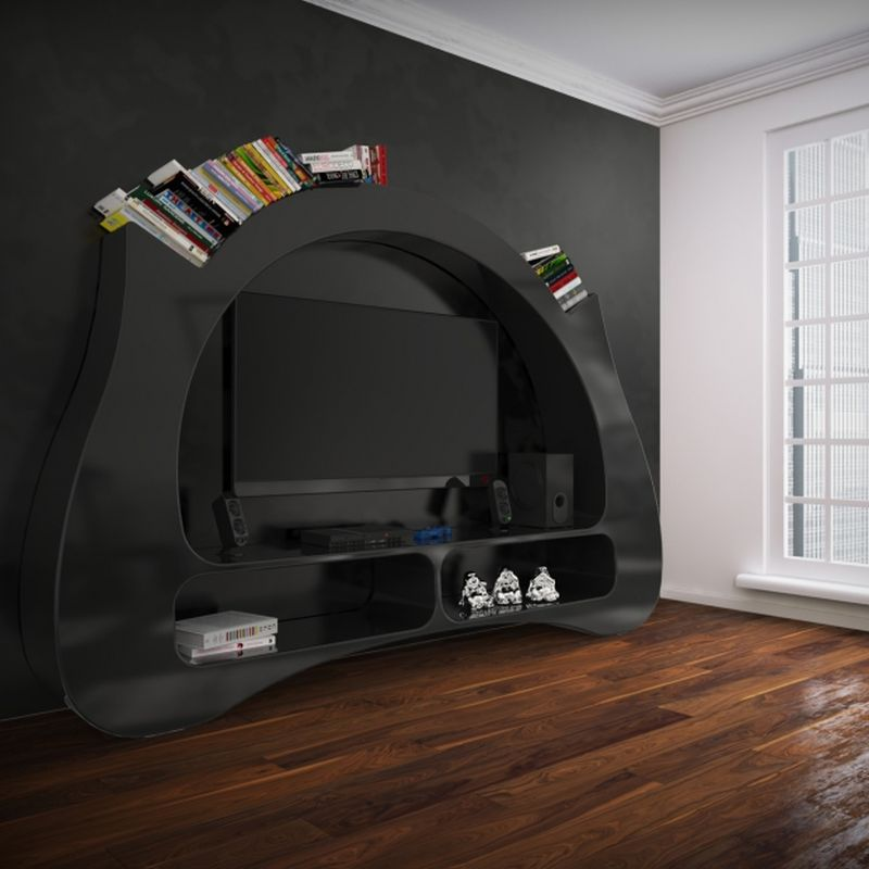 My Space media center is perfect to show off your book collection