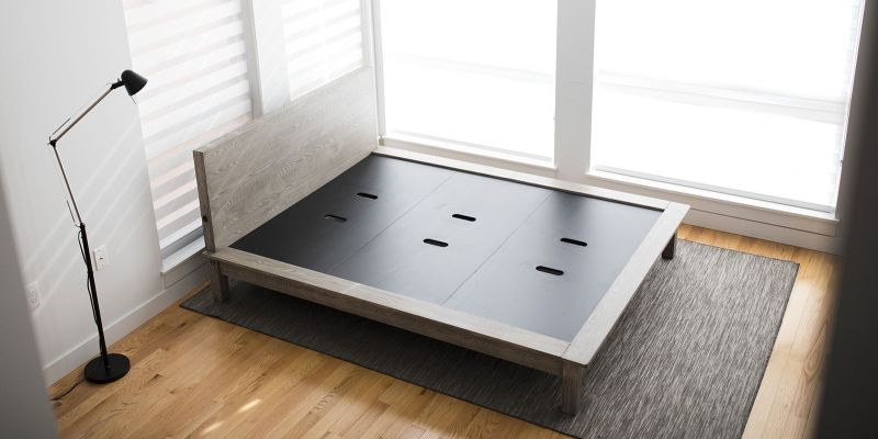 Pons easy to setup bed frame comes with USB ports for charging