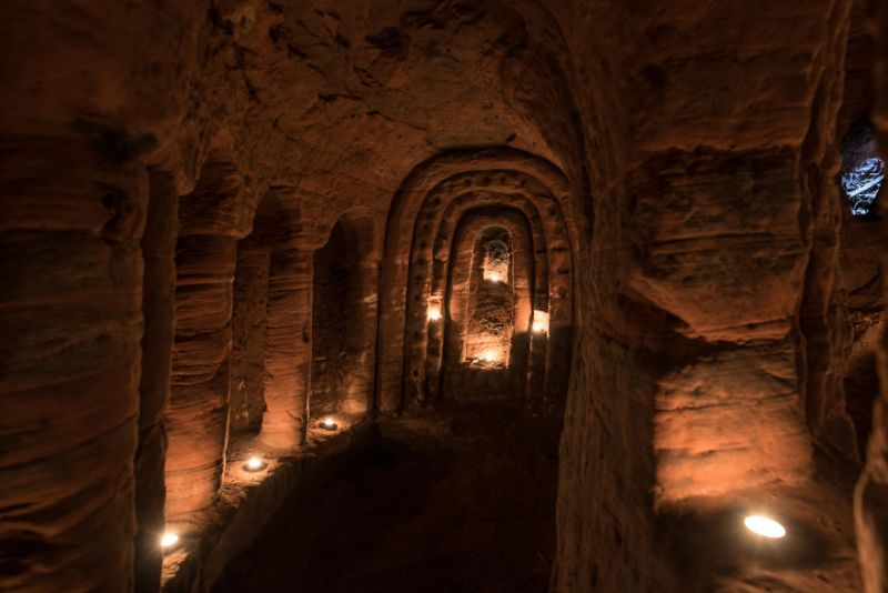 Rabbit hole caves by Michael Scott