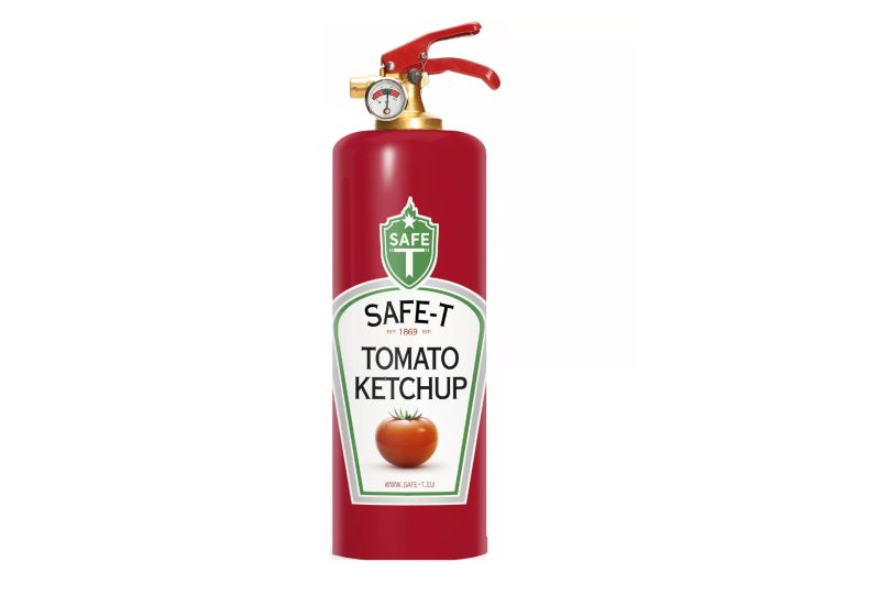 Safe-T chic fire extinguishers fit perfectly in your kitchen