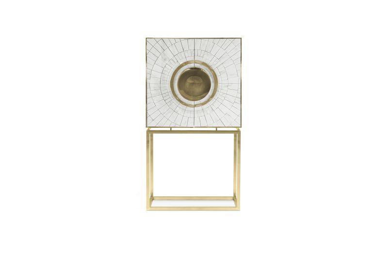 Secret luxury cabinet by Memoir feature gold leaf interiors