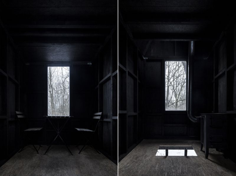 Take a tour of mysterious tiny house floating under an old railway bridge