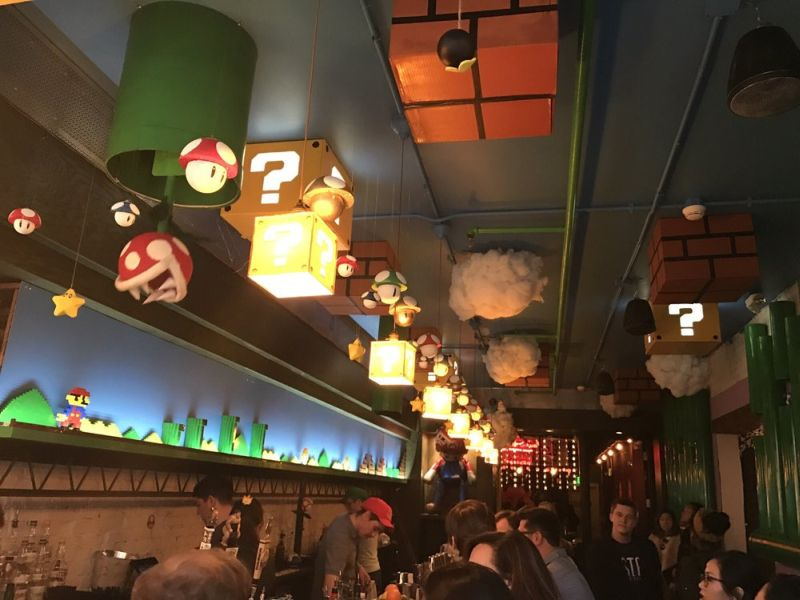 This Mario-themed bar is a new attraction at Washington D.C.