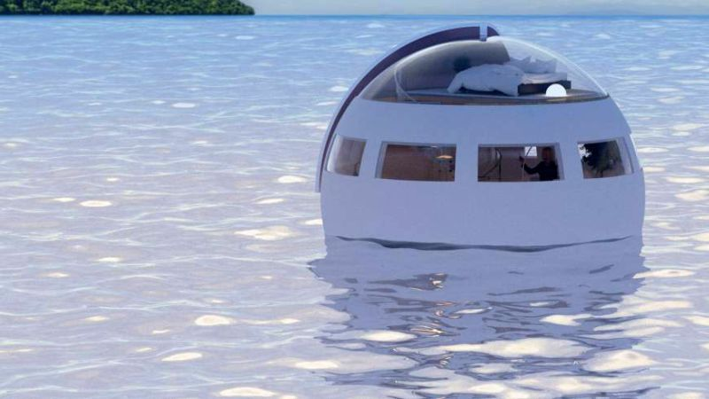 floating sleeping capsule japan