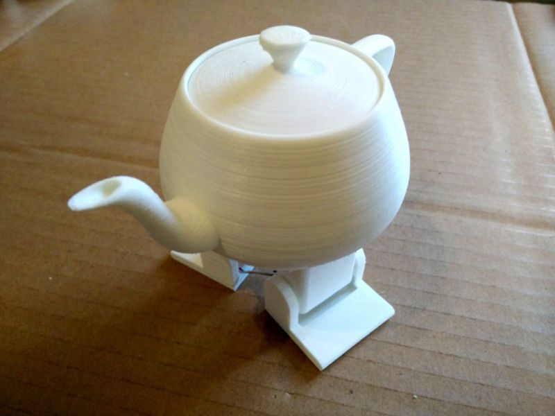 3D printed robotic dancing teapot