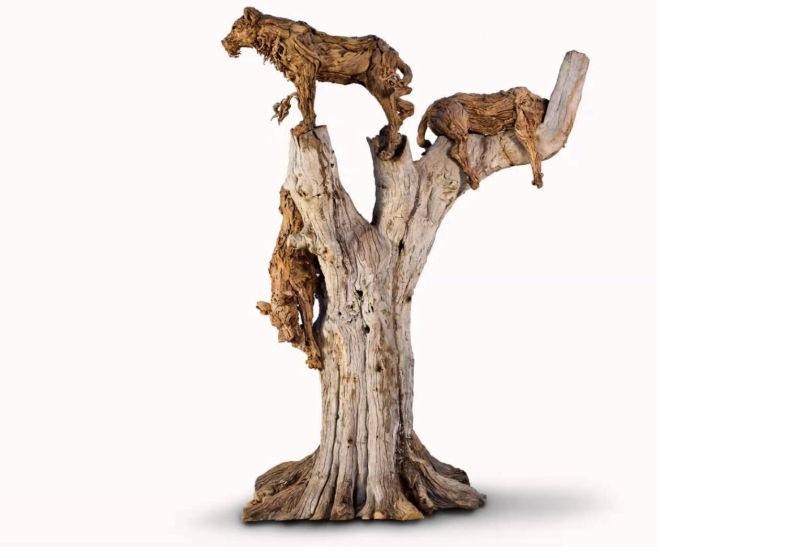 Life-size driftwood sculptures by James Doran-Webb