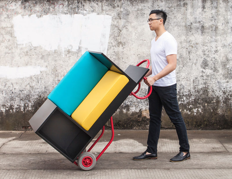 Furniture with wheels is new concept for urban dwellers